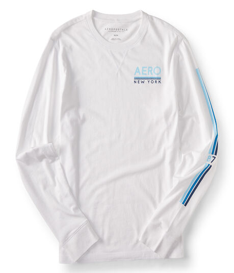 Long Sleeve Aero New York Logo Graphic Tee