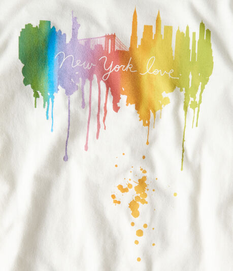 New York Love Watercolor Graphic Tee