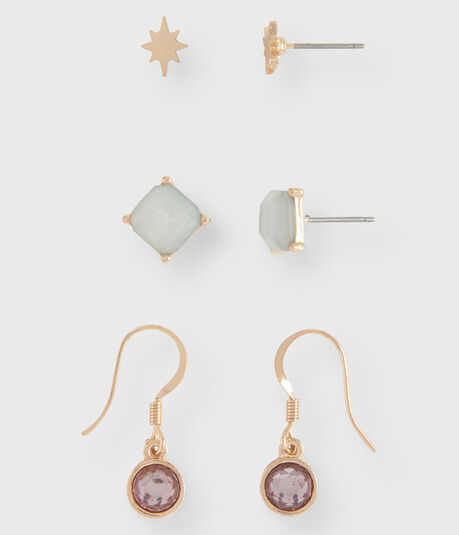 Starburst Stud & French Wire Earring 3-Pack