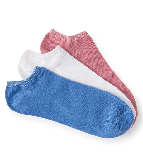 3-Pack Sparkle Cuff Solid Ankle Socks