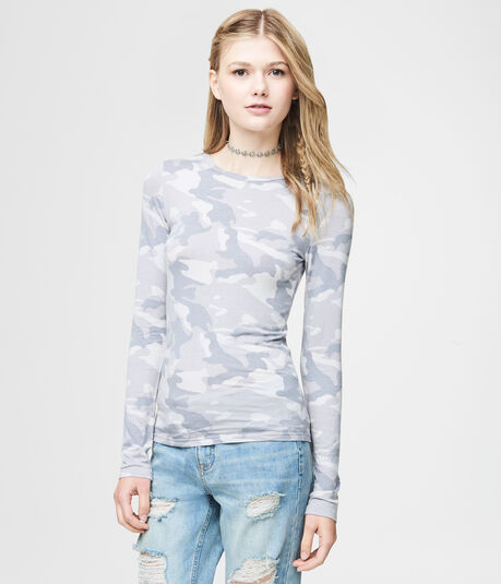 Long Sleeve Seriously Soft Camo Crew Tee