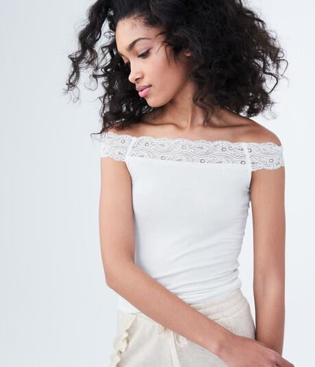 LLD Lace Off-The-Shoulder Tank