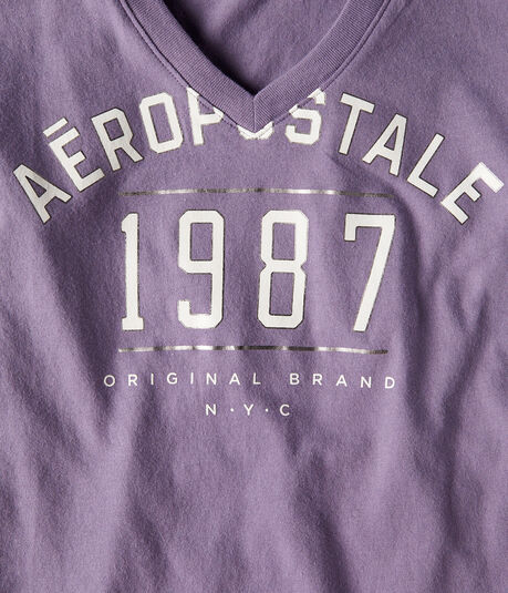 Aeropostale Original Brand V-Neck Graphic Tee