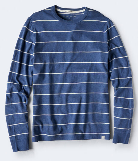 Long Sleeve Thin Stripe Crew Tee