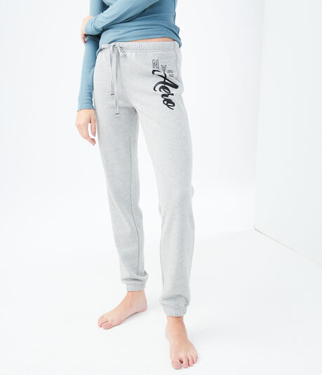Final Sale -NYC Aero Script Classic Cinch Sweatpants