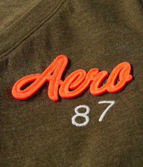 Aero 87 V-Neck Graphic Tee
