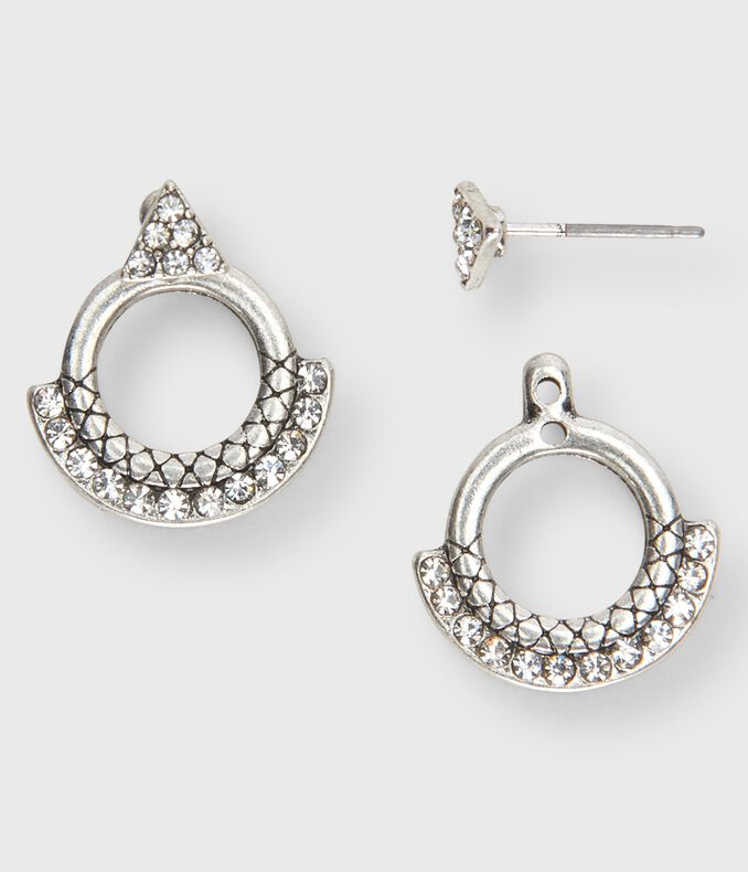 Pavé Circle Stud Earrings