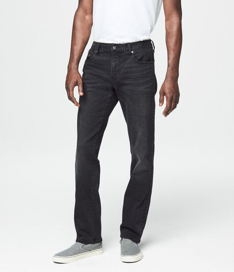 Slim Straight Black Wash Reflex Jean