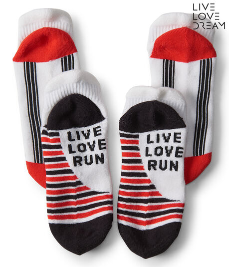 LLD 2-Pack Live Love Run Performance Ankle Socks