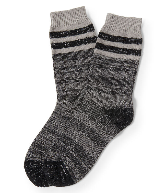 Sparkle Stripe Crew Socks