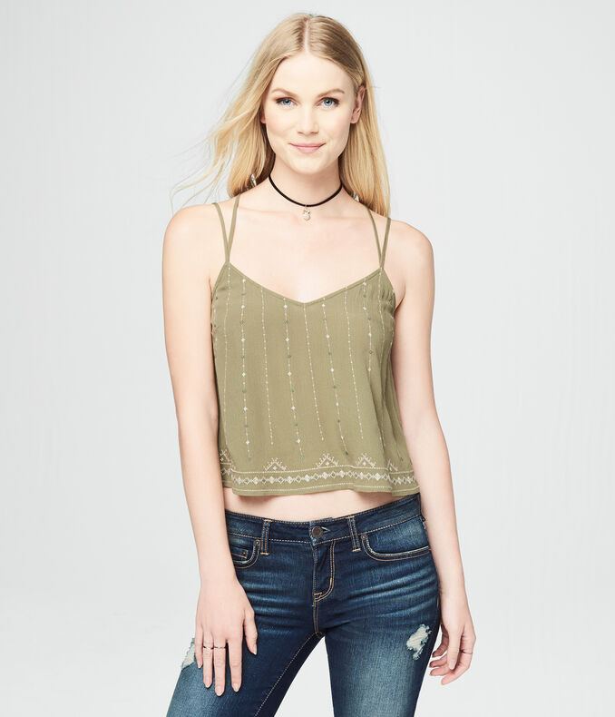 Cross-Stitch V-Neck Cami
