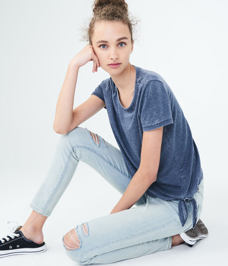 LLD Solid Side-Tie Tee