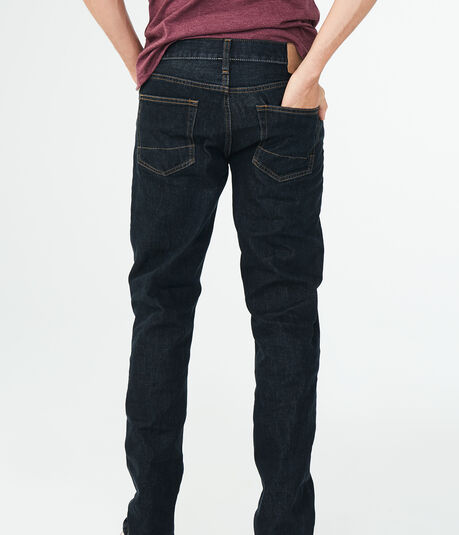 Slim Straight Dark Rinse Wash Reflex Jean