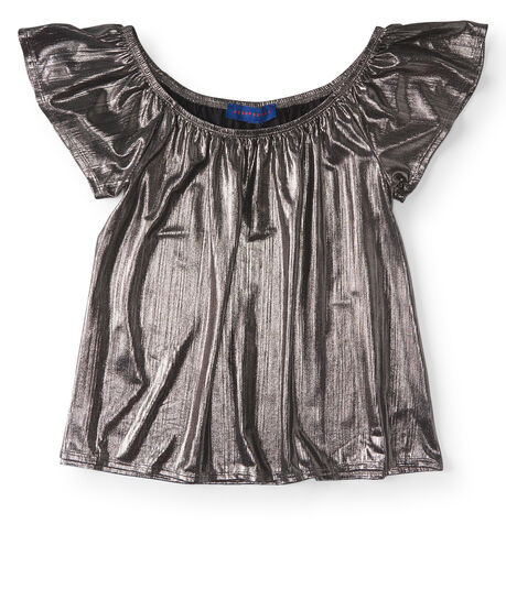 Metallic Scoop-Neck Top