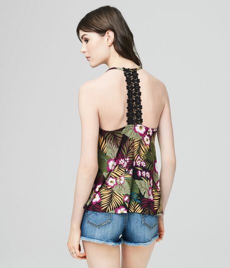 Cape Juby Floral Lace Back Tank