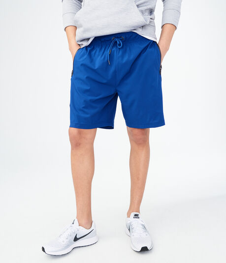 Side-Stripe Stretch Athletic Shorts