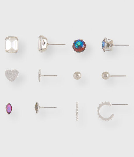 Heart Stud Earring 6-Pack