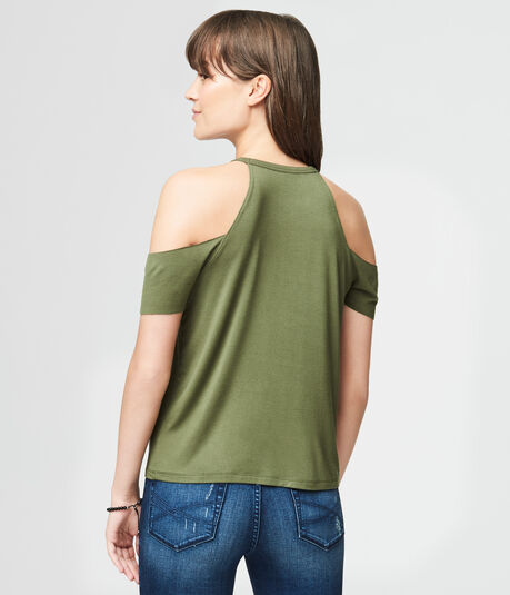 Wanderer Cold-Shoulder Graphic Tee