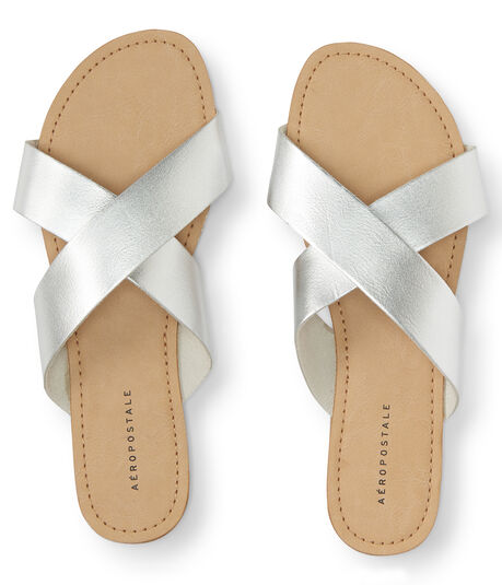 Criss-Cross Slide Sandal