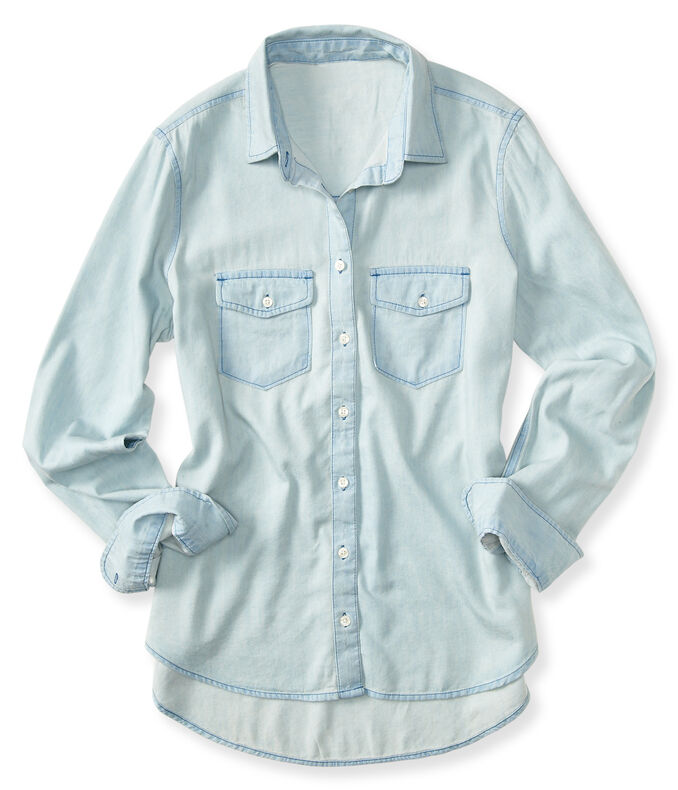 Prince & Fox Light Wash Chambray Button Down