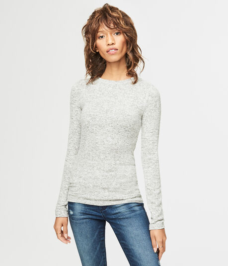 Long Sleeve Seriously Soft Marled Crew Top