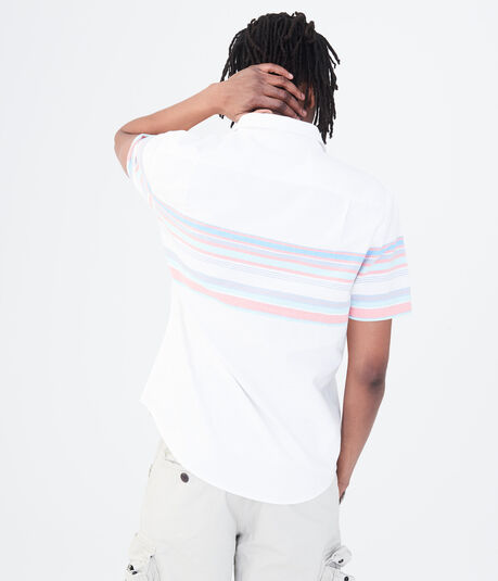 Engineered Stripe Woven Shirt