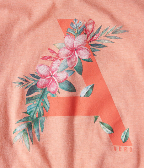 "Floral Aero ""A"" Graphic Tee"