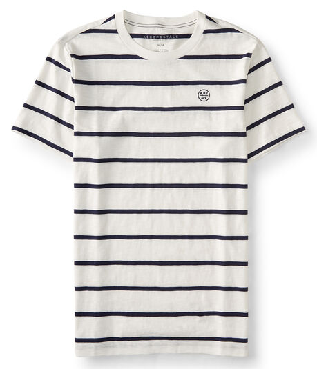 A87 Striped Logo Tee
