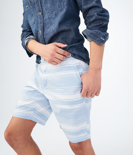 Breeze Stripe Flat-Front Chino Shorts