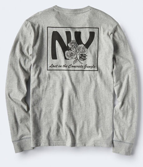 Long Sleeve NY Rose Graphic Tee