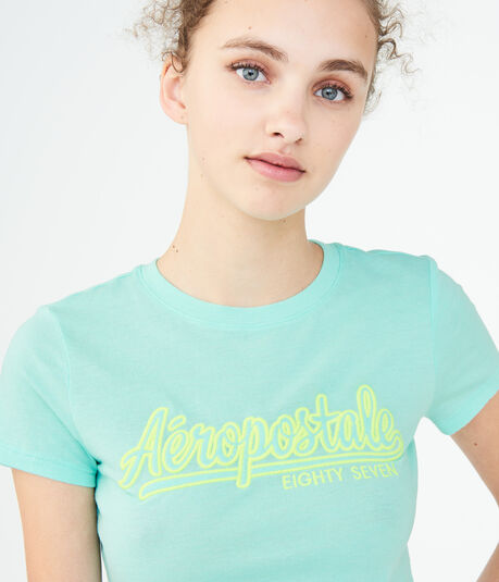 Aeropostale Eighty Seven Script Graphic Tee