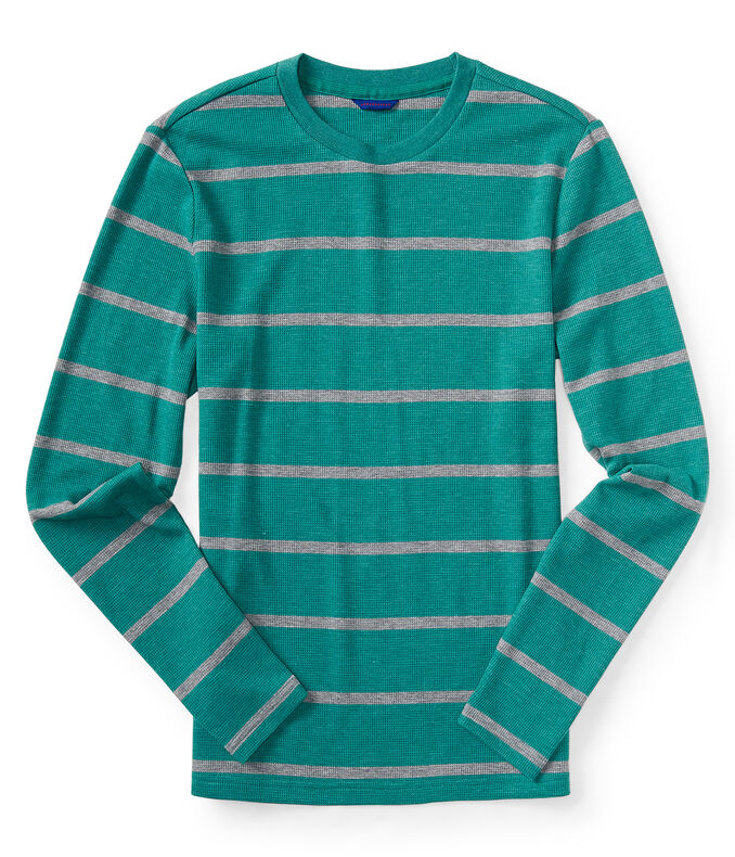 Final Sale- Long Sleeve Striped Thermal Tee