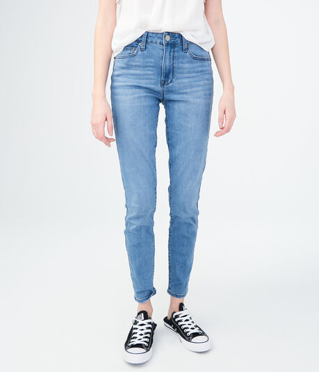 Seriously Stretchy Medium Wash High-Waisted Jegging