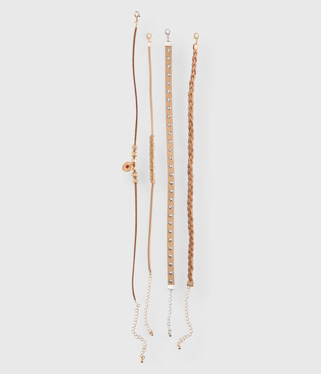 Western Short-Strand Choker Necklace 4-Pack