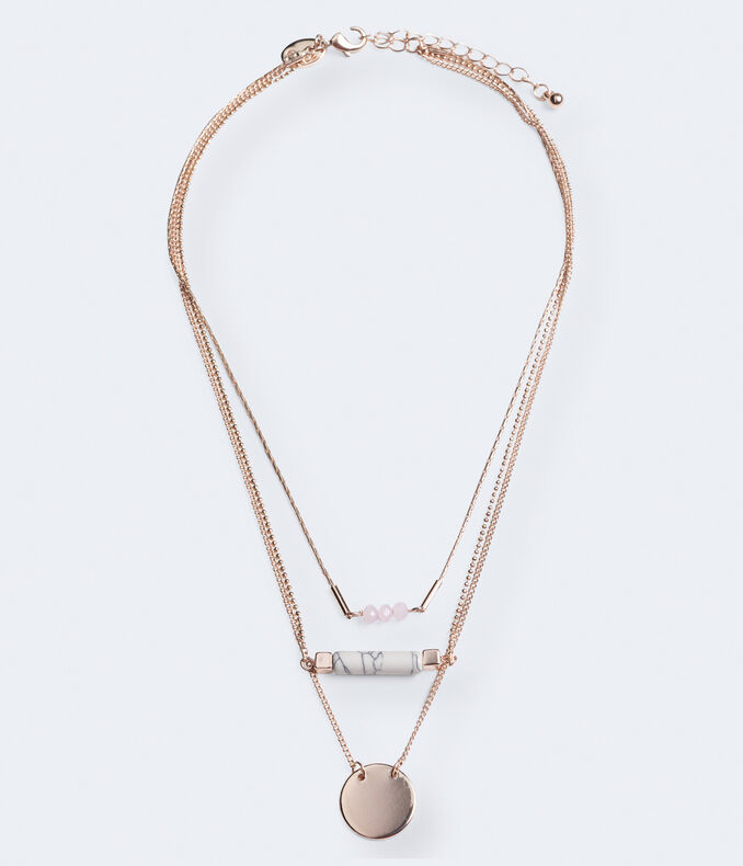 Trio Tiered Short-Strand Necklace
