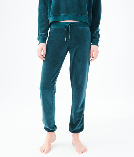 Velour Cinch Sweatpants