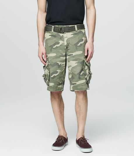 Cape Juby Camo Belted Cargo Shorts