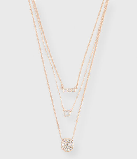 Pavé Circle Short-Strand Necklace