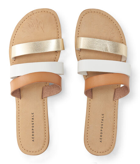 Triple-Strap Slide Sandal