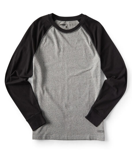 Long Sleeve Colorblock Raglan Stretch Tee