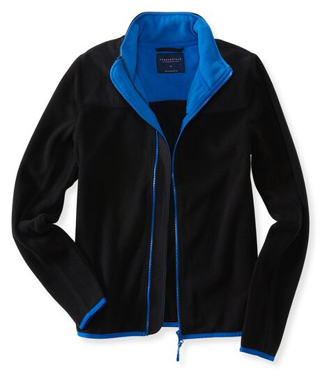 Solid Full-Zip Fleece Jacket
