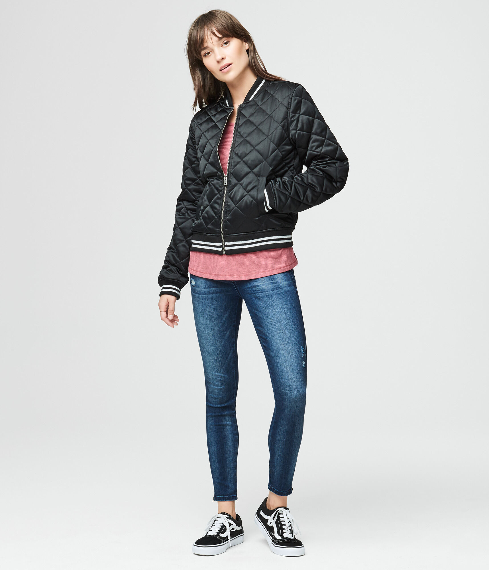 Quilted Bomber Jacket for Teen Girls & Women | Aeropostale