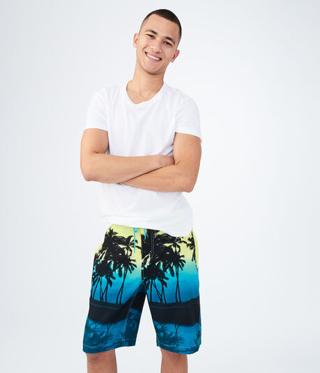 Sunset Palm Stretch Boardshorts