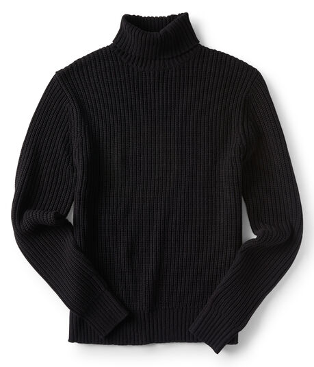 Chunky Ribbed Turtleneck Sweater