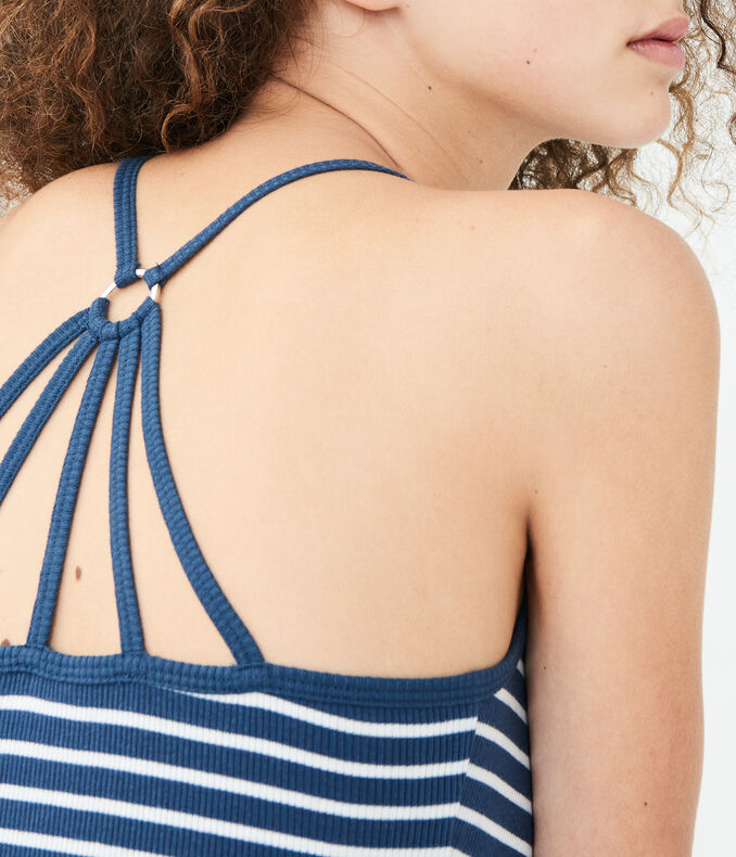 Striped Ring-Back Cami