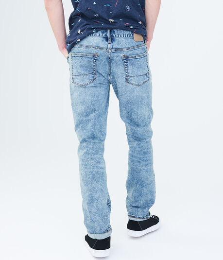 Final Sale - Slim Straight Light Wash Reflex Jean