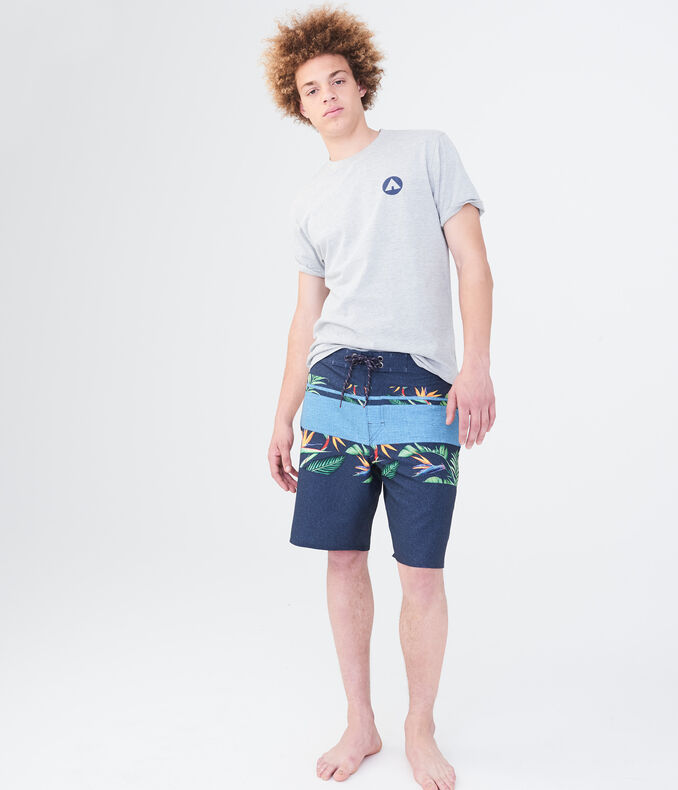 Airwalk Floral Stripe Stretch Boardshorts