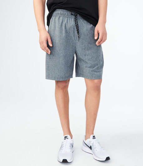 Athletic Drawstring Stretch Shorts
