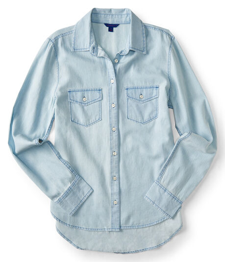 Light Wash Chambray Woven Shirt