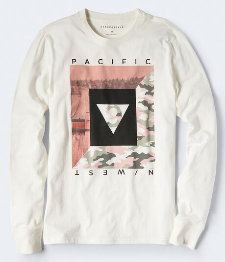Long Sleeve Pacific N West Graphic Tee